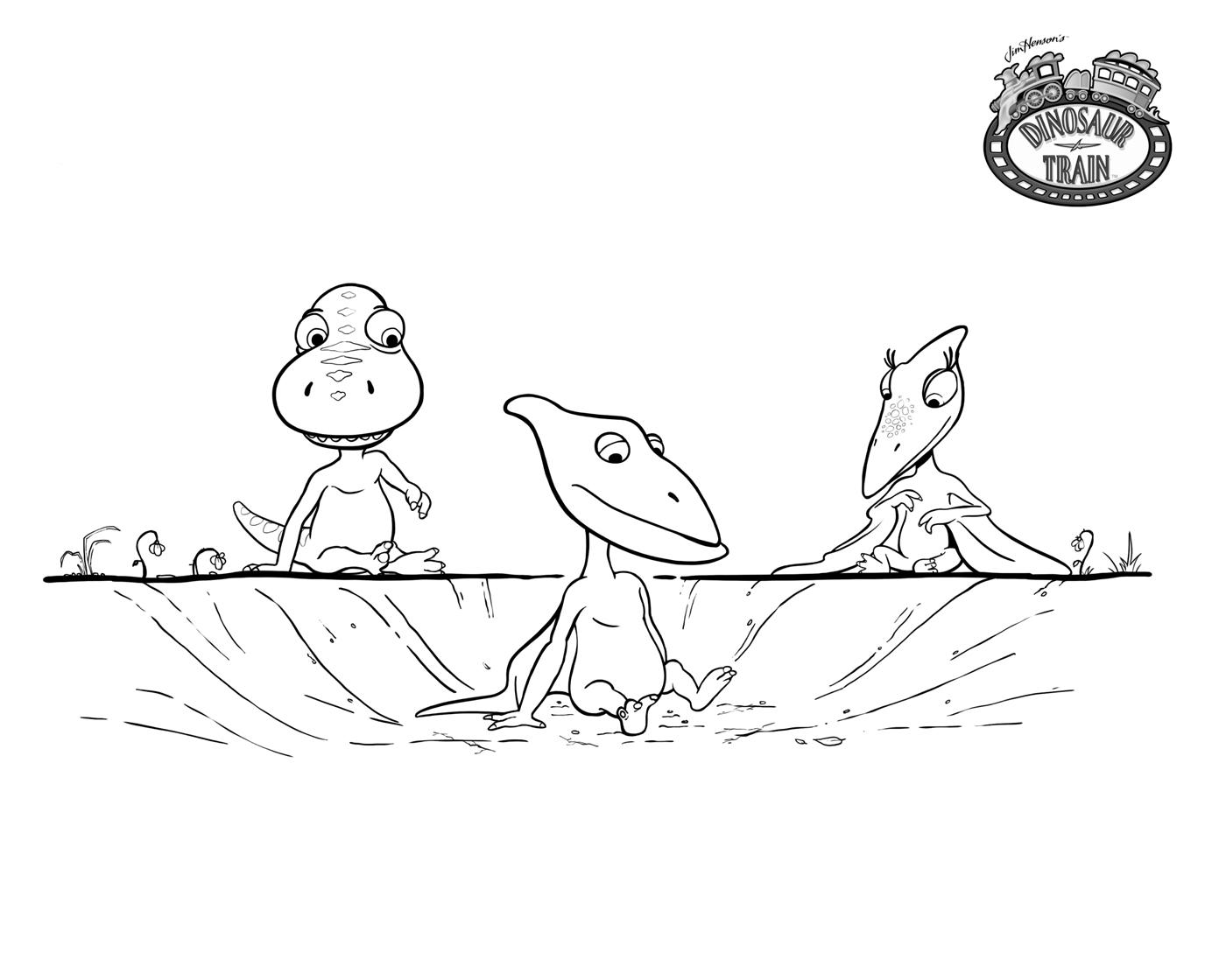Поезд динозавров, маленькие птерозавры