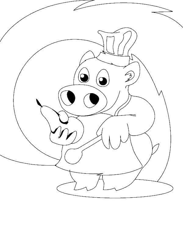 Повар свинка