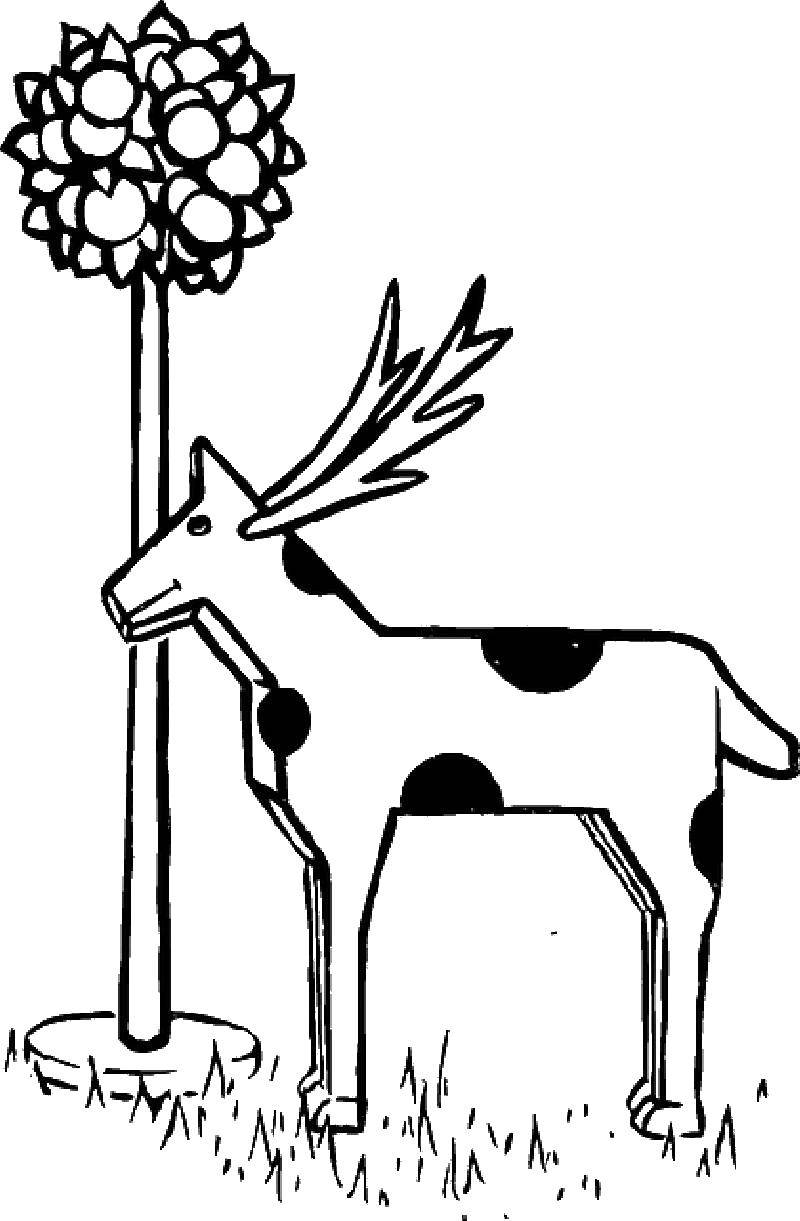 Раскраски олень