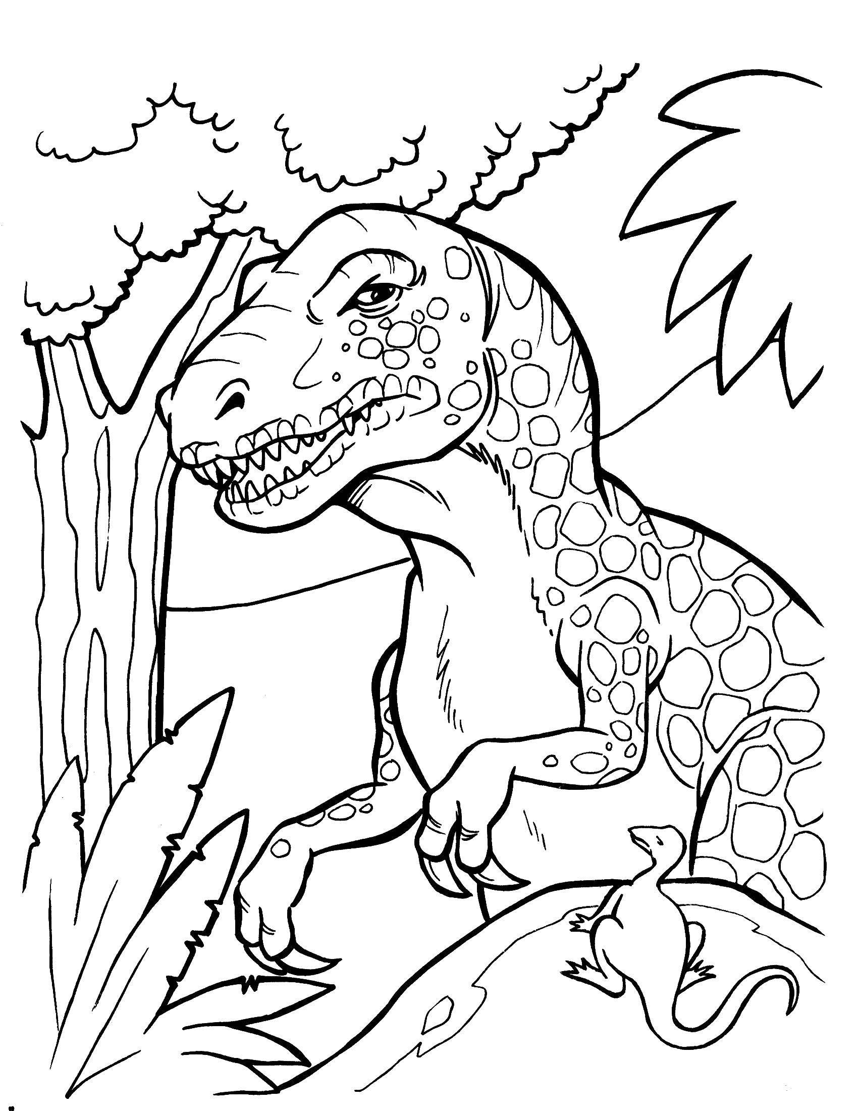 Тираннозавр рэкс в пятнышках