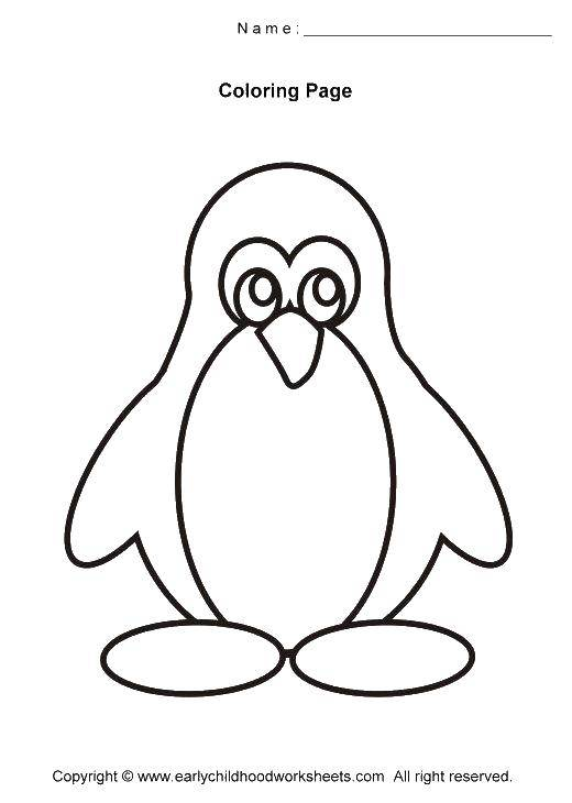 Раскраска с пингвинами  Контур пингвина