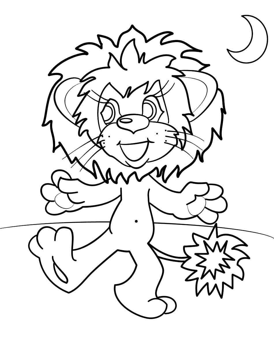Раскраски львицы и львята  Львенок из советского мультфильма