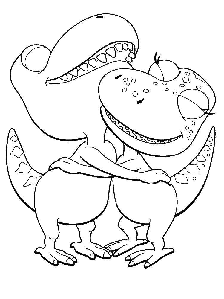 Обнимающиеся динозаврики