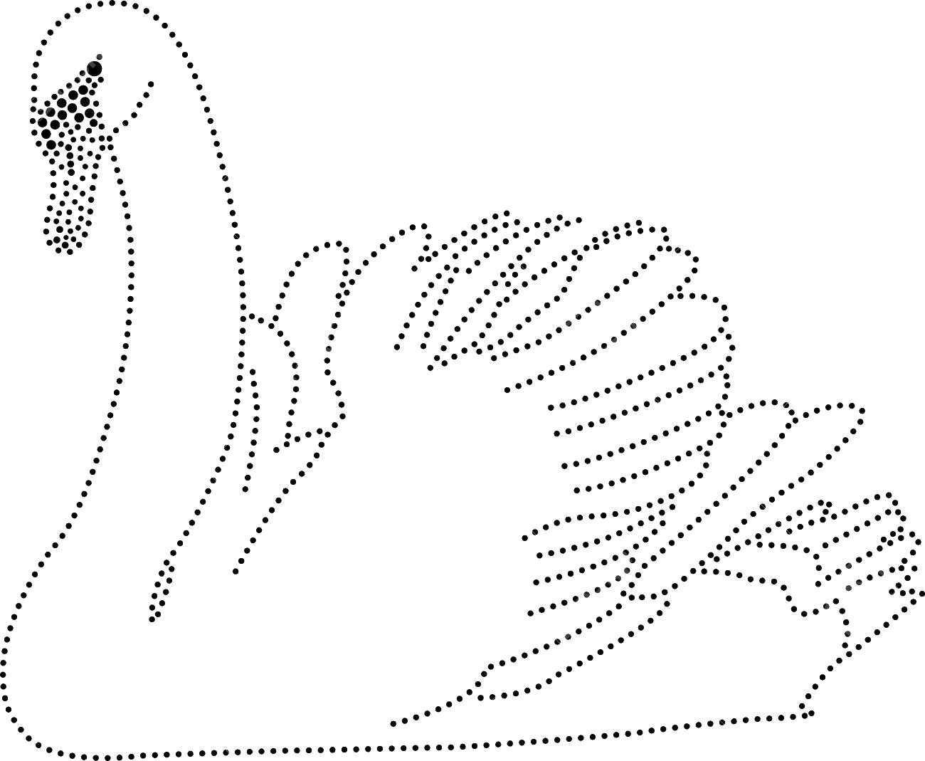 Лебедь точечный контур