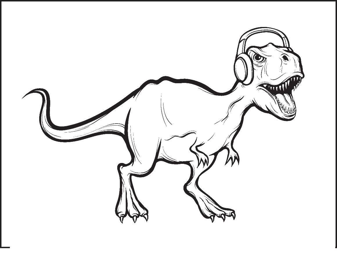 Тираннозавр рэкс в наушниках