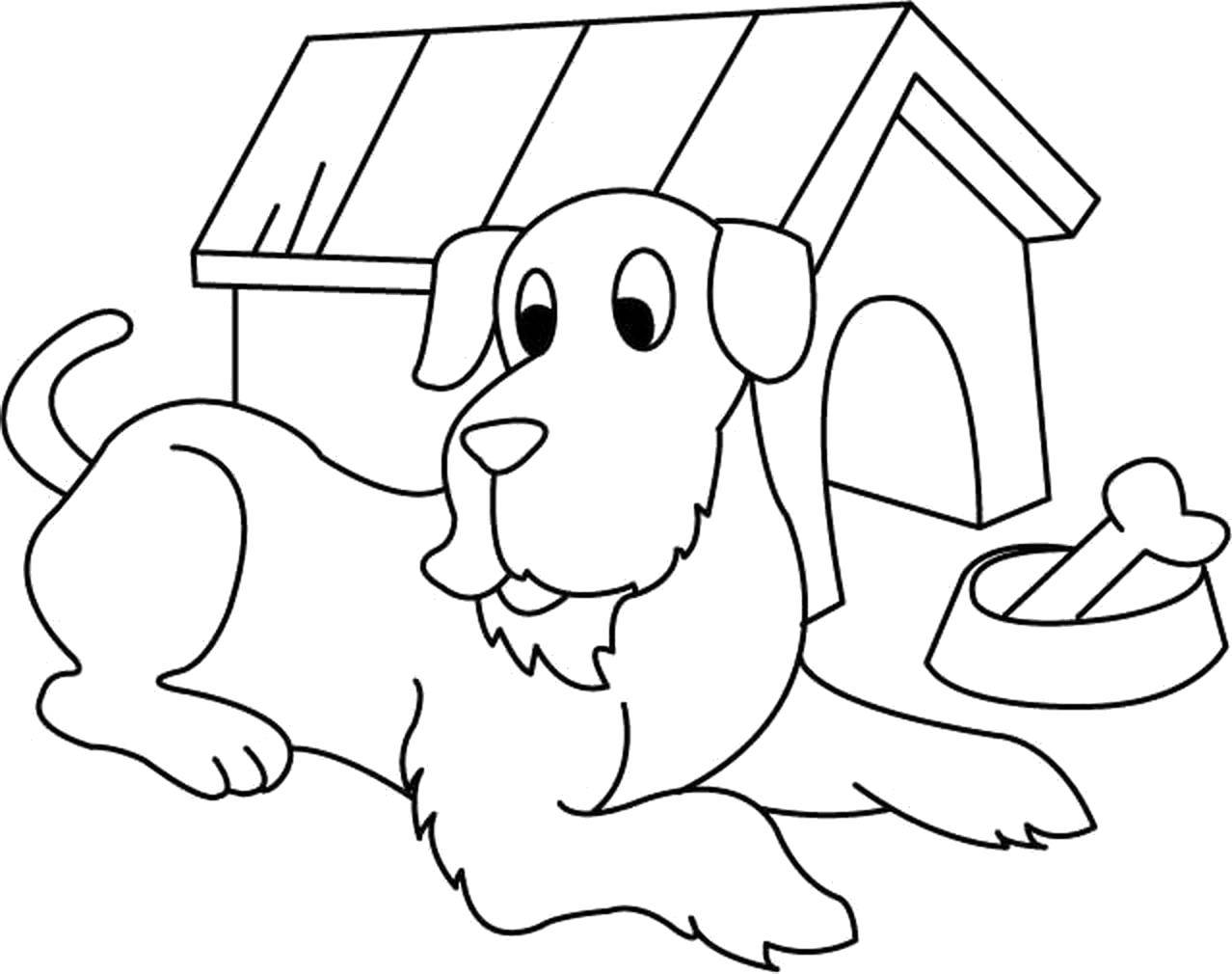 Собака с будкой