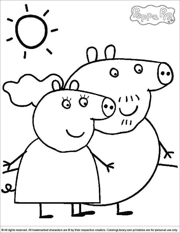 Папа и мама свинка