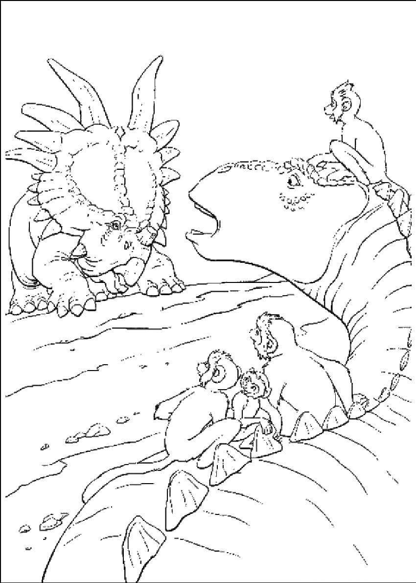 Обезьяны нашли динозавра