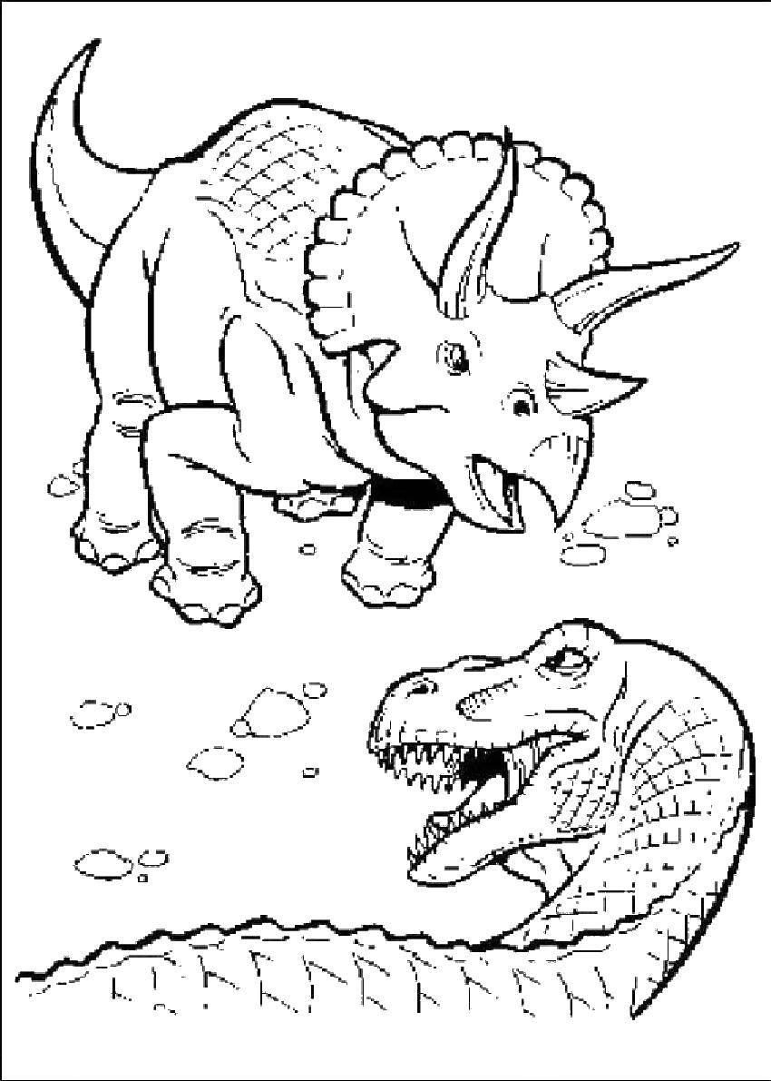 Динозавры дерутся