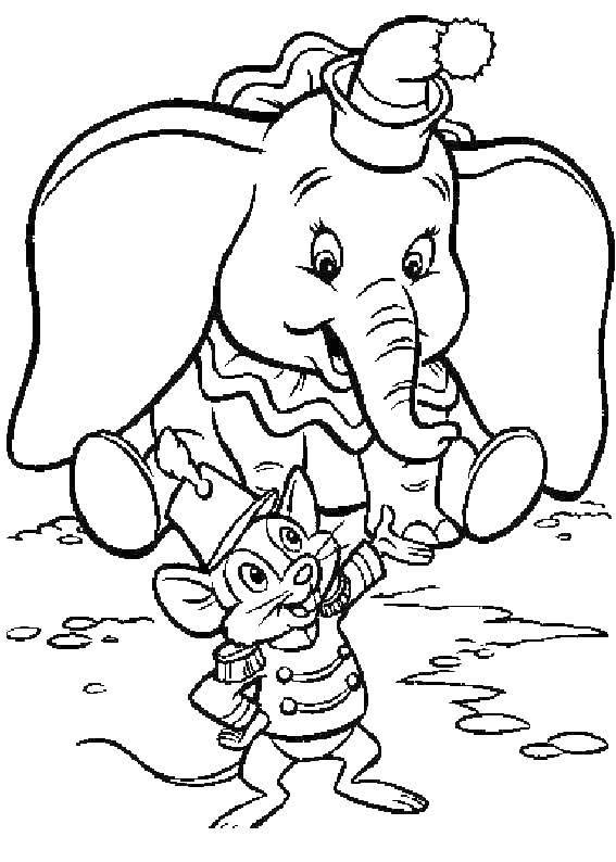 Слоненок дамбо с мышкой