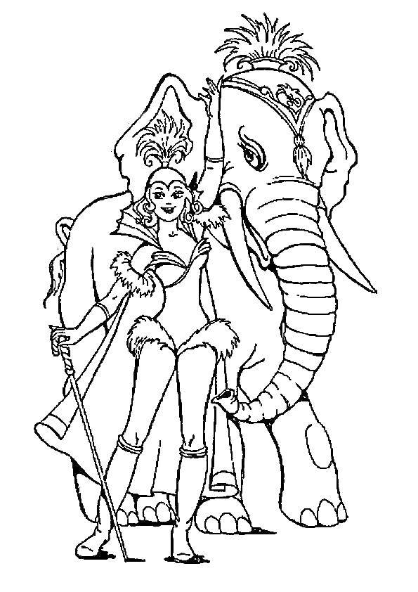 Акробатка и слон