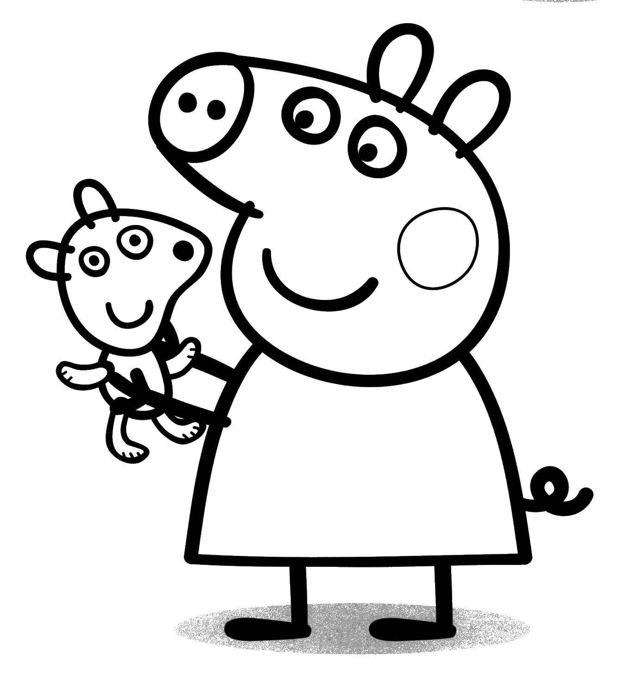 Свинка пеппа с игрушкой
