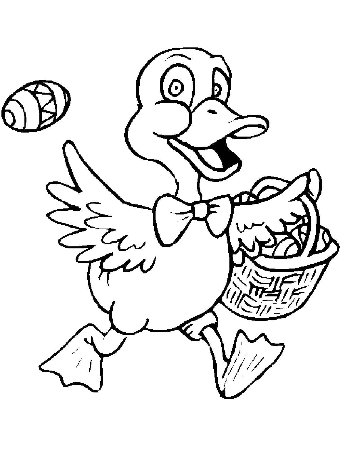 Утка с яйцами на пасху