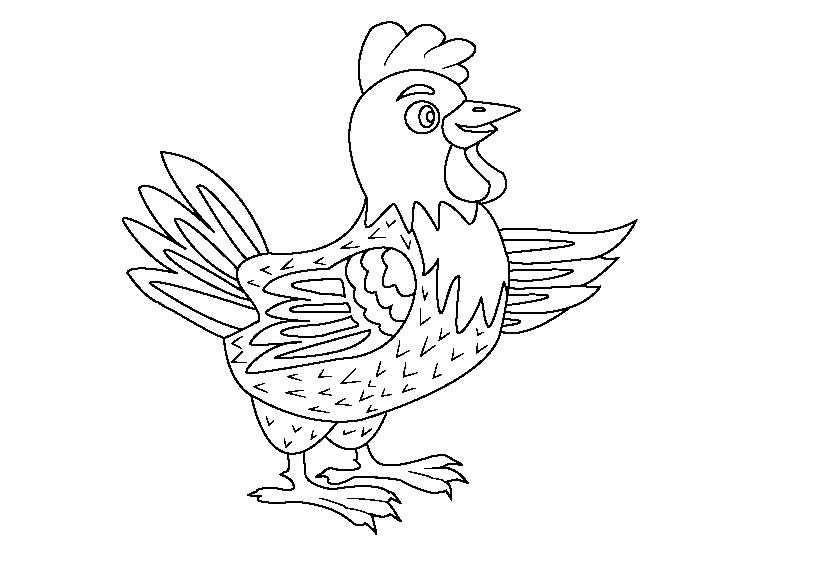 Рисунок курицы