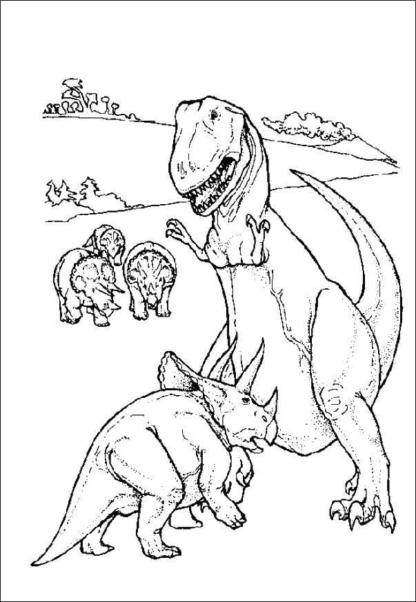 Тиранозавр против трицератопс