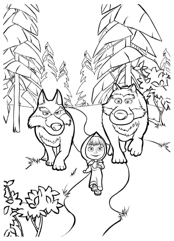 Раскраски раскраска волк
