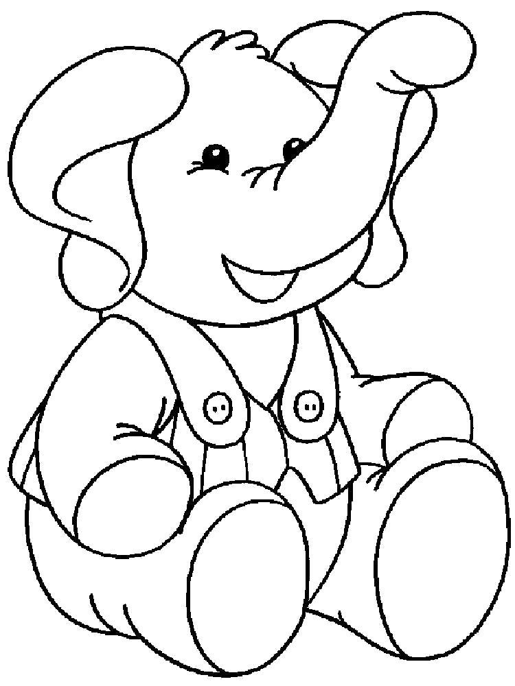 Раскраска слон игрушечный