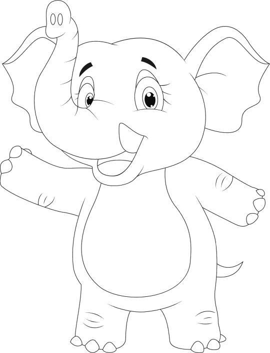 слоник стоит на двух лапах