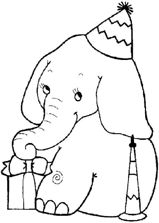 слоненок с подарками
