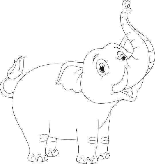 слоник поднял хобот
