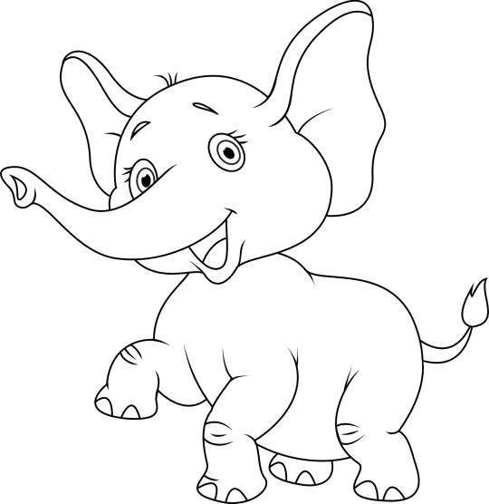 довольный слоненок