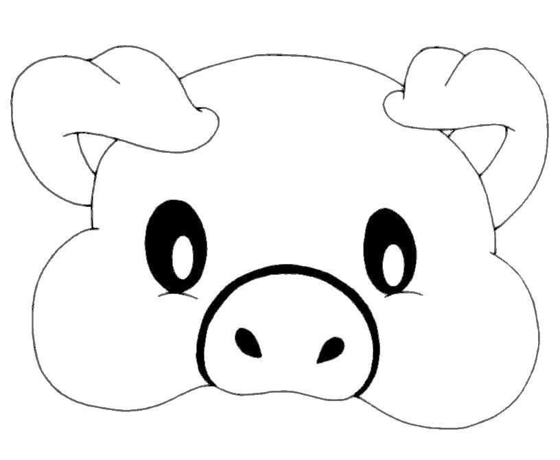 маска мордочка свинюшки