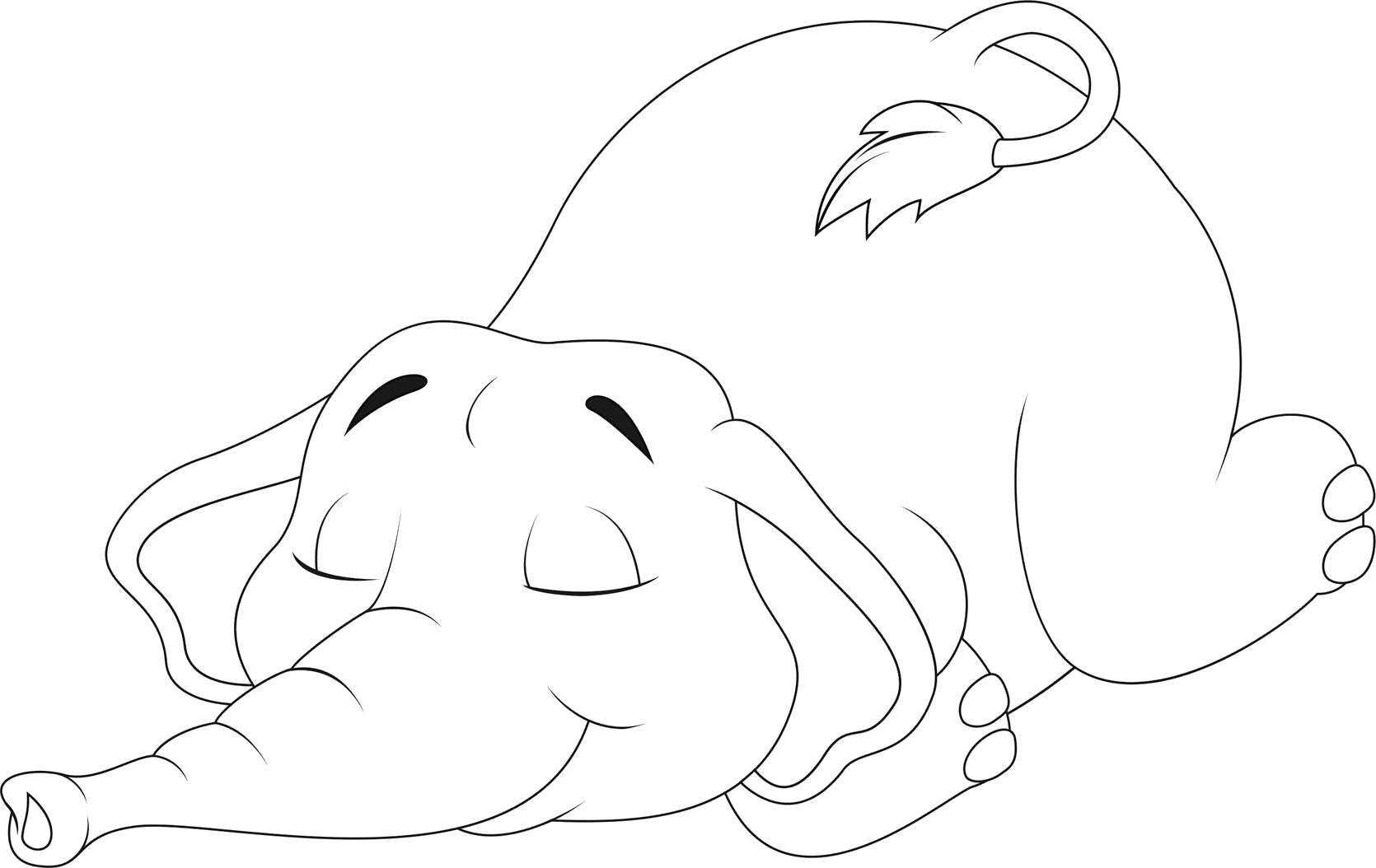 слоник спит