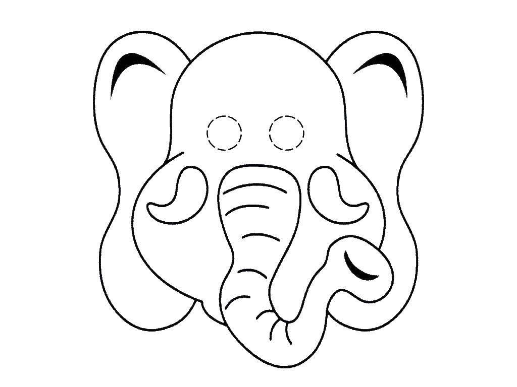 Нарисуйте глазки слонёнку
