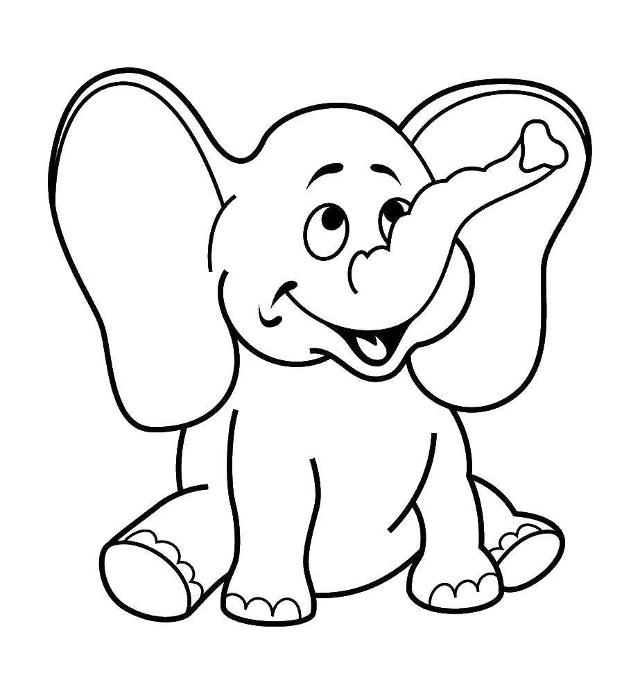 Радостный слоник