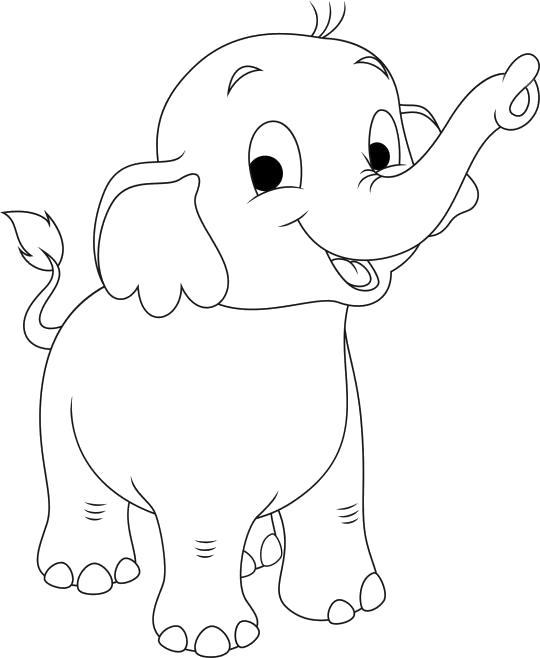 маленький слоненок, довольный слоненок, слоненок улыбается