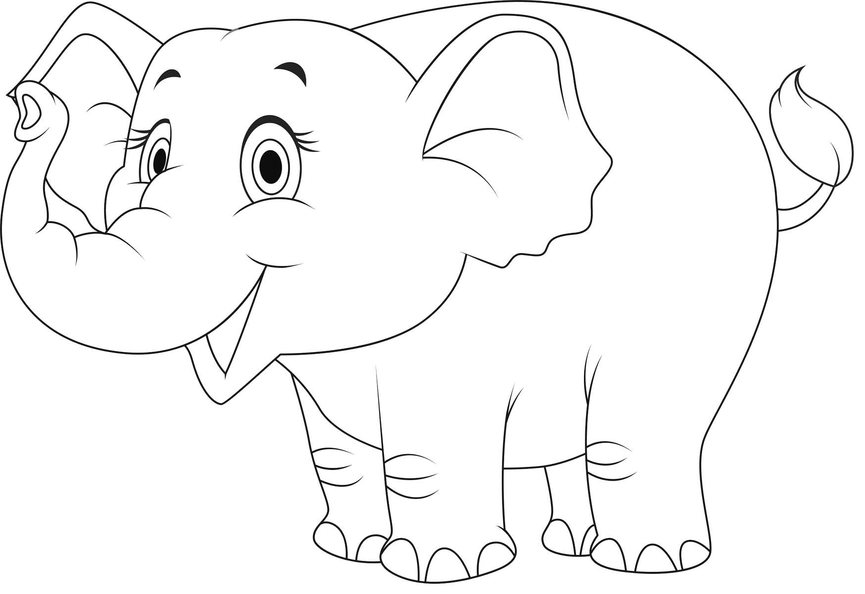 слоненок улыбается