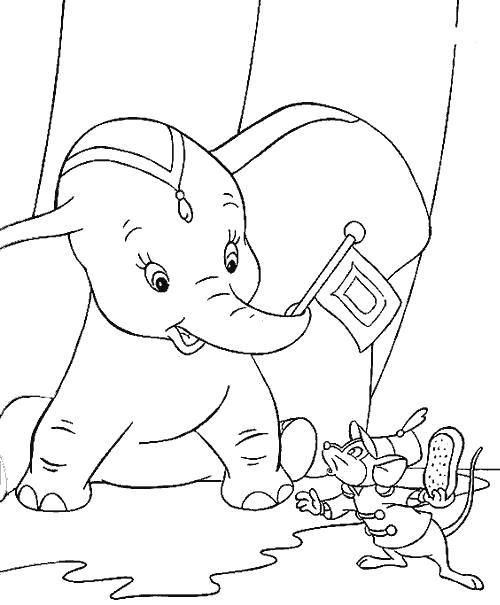 Слонёнок и мышка